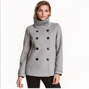 H&M Double-breasted figure-fit jacket, size 8